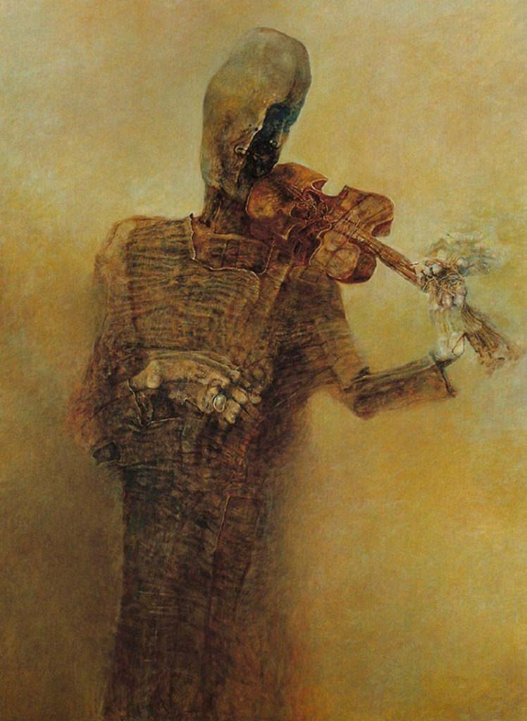 Zdzisław Beksiński - Violin Player - Music
